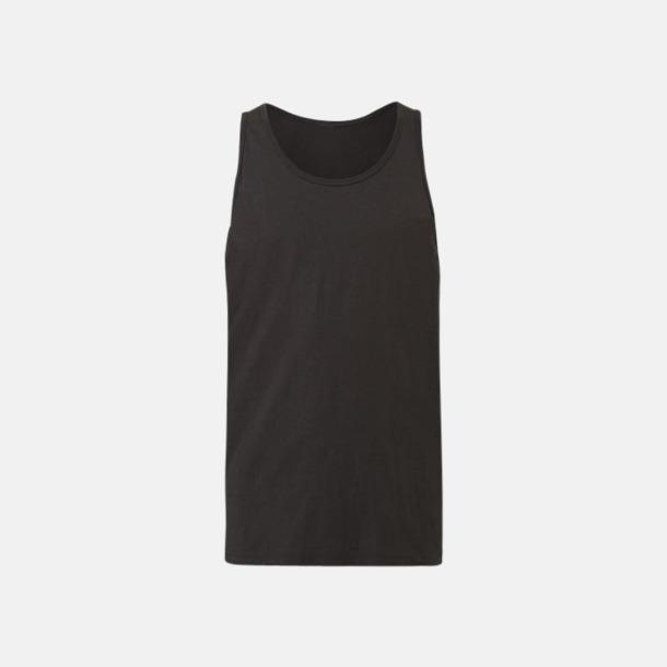 Charcoal Black Triblend Bomullslinnen i unisexmodell med reklamtryck