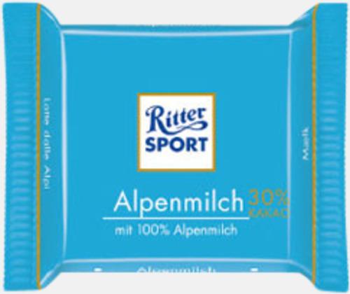 Alpin mjölkchoklad Chokladrutor från Ritter med rekalmtryck