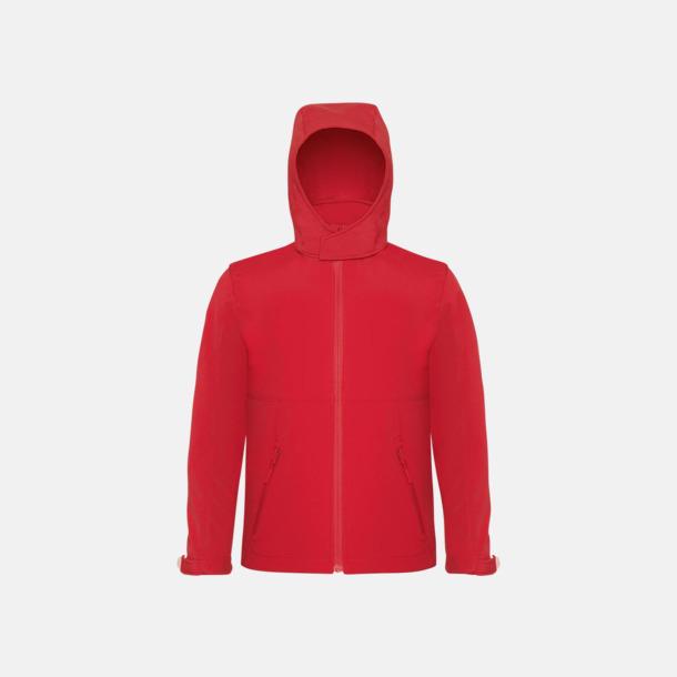 Röd (barn) Softshell-jackor för vuxna och barn - med reklamtryck