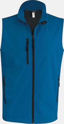 Aqua Blue (herr) Softshell Bodywarmers i herr- & dammodell med reklamtryck