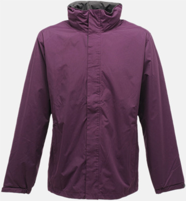 Majestic Purple/Seal Grey (solid) Vind- & regnjacka i herr- & dammodell med reklamtryck