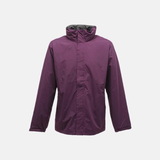 Majestic Purple/Seal Grey (solid) Vind- & regnjacka i herrmodell med reklamtryck