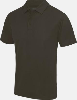 Olive Green Färgglada pikétröjor med reklamtryck