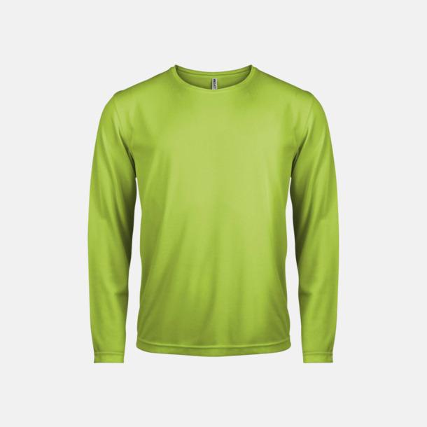 Lime Sport t-shirts med långa ärmar för män - med reklamtryck