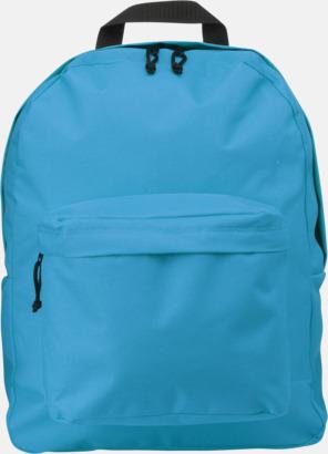 Pale Blue Stilren och klassisk ryggsäck med reklamtryck