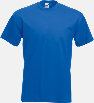 Royal Blue Kraftig t-shirt med reklamtryck