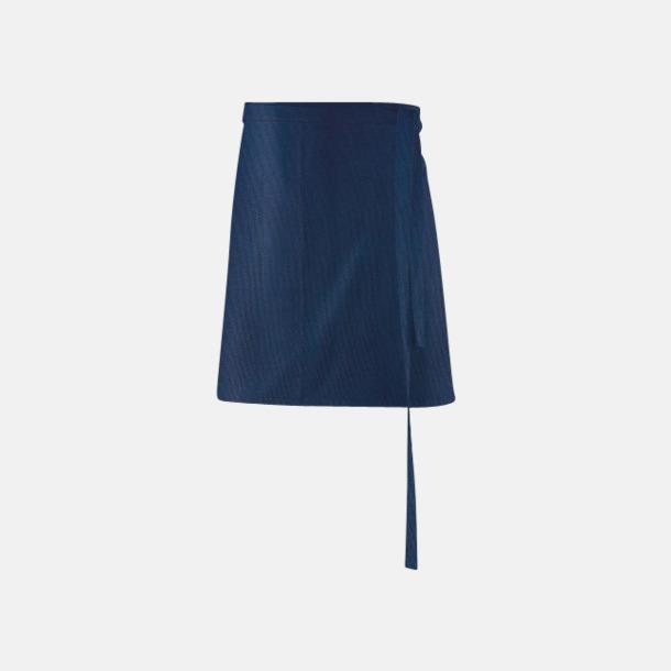 Marinblå (80 x 45 cm) Förkläden i 5 varianter med reklamtryck