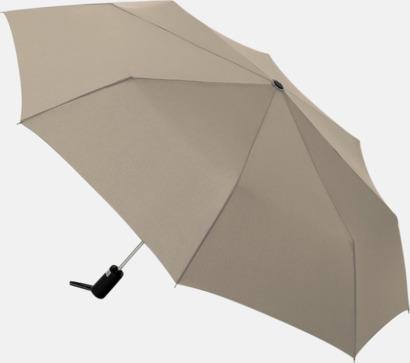 Taupe Kompaktparaplyer med automatisk uppfällning