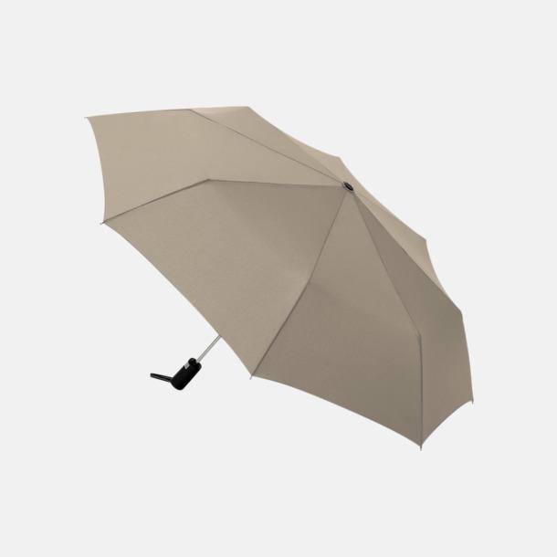 Taupe Kompaktparaplyer med automatisk uppfällning - med reklamtryck