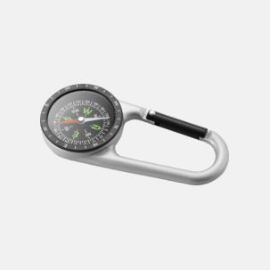 Metallkarbinhake med inbyggd kompass - med tryck eller gravyr