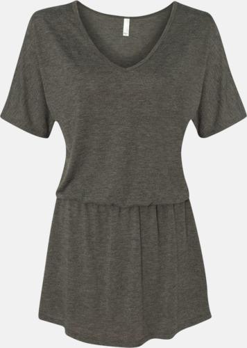 Dark Grey Heather Trendiga klänningar med reklamtryck