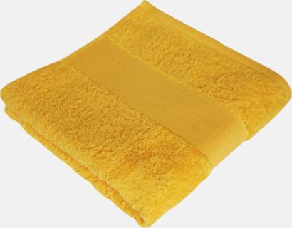 Brilliant Yellow Prisvärda handdukar i flera storlekar med brodyr