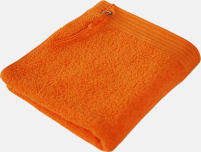 Orange Handdukar med metallögla och snöre - med brodyr