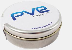 Silver Plåtdosor - profilgodis Med tryck