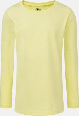 Yellow Marl (flicka) Färgstarka långärms t-shirts i herr-, dam och barnmodell