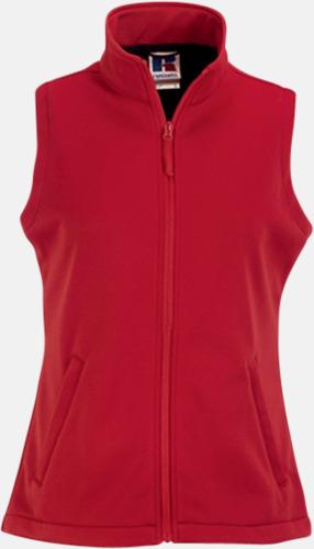 Classic Red (dam) Västar i dam- och herrmodell av Softshell - med reklamtryck