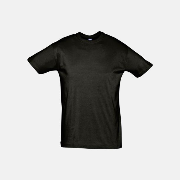 Deep Black Billiga unisex t-shirts i många färger med reklamtryck