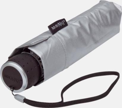 Svart/Silvergrå (3) Paraplyer med tryck