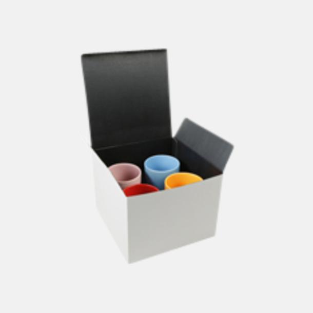 Presentförpackning 4-pack Klassiska kaffemuggar med eget tryck