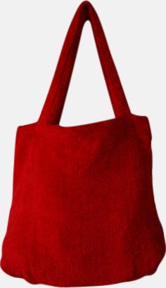 """Paprika Red Bomullsväskor av """"handduksfrotté"""" med bordyr"""