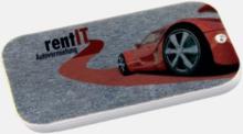 Platta metallaskar med mintgodis - med reklamtryck