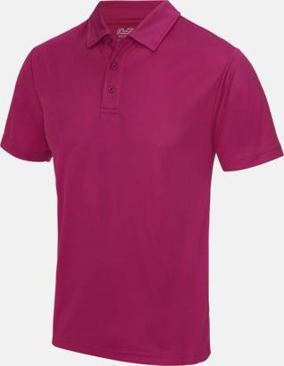 Hot Pink Färgglada pikétröjor med reklamtryck