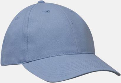 Ljusblå klassiska basebollkepsar med reklambrodyr