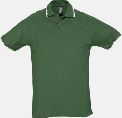 Golf Green/Vit (herr) Snygga pikétröjor för herr och dam