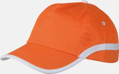 Orange / Vit Snygga och billiga kepsar med reklamtryck