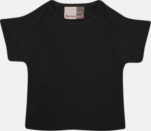 Svart T-shirts för de minsta barnen - med tryck
