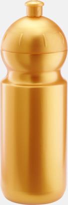 Metallic guld (500 ml) Bulb-vattenflaskor i 4 storlekar med digitaltryck
