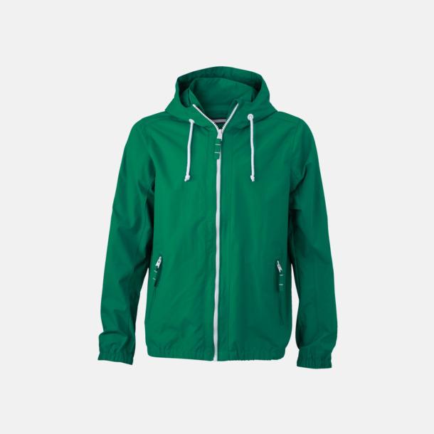Irish Green/Vit (herr) Seglarjackor i herr- & dammodell med reklamtryck