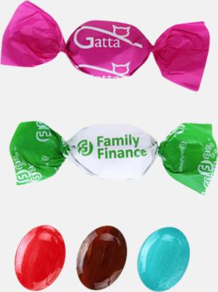 Fyllda karameller med reklamtryck
