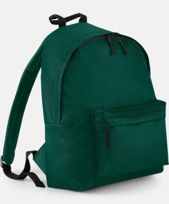 Bottle Green Klassisk ryggsäck i 2 storlekar med eget tryck