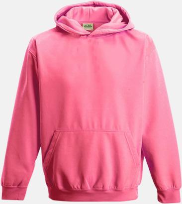Electric Pink Huvtröjor för barn i neonfärger med reklamtryck