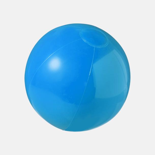 Blå (solid) Badbollar i solida och transparenta färger med reklamtryck