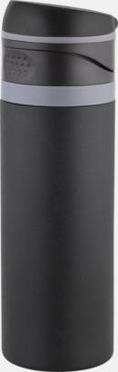 Mattsvart/Grå 0,4 liters ståltermosmugg med reklamtryck