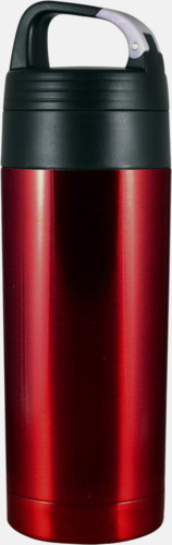 Rubinröd Smidig termos med karbinhake