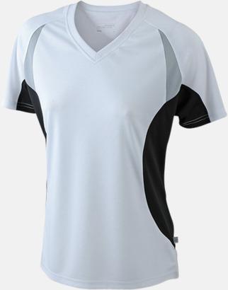 Vit/Svart/Reflex Flerfärgade funktionströjor med eget tryck