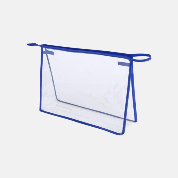 Transparent/Blå Genomsynliga necessärer med reklamtryck