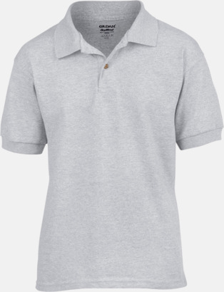 Sport Grey (heather) Billiga barnpikétröjor med tryck eller brodyr