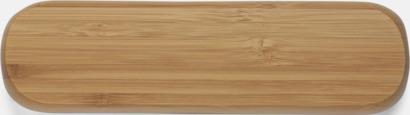 Pennor och ask i bambu - med reklamtryck