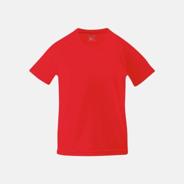 Röd (barn) Funktionströjor för herr, dam och barn - med reklamtryck