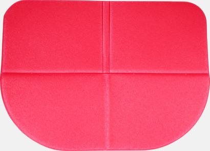 Röd Sittdynor i fickformat med reklamtryck