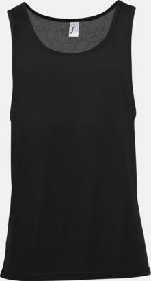 Svart Sublimeringsbara oversize linnen i unisexmodell med reklamtryck