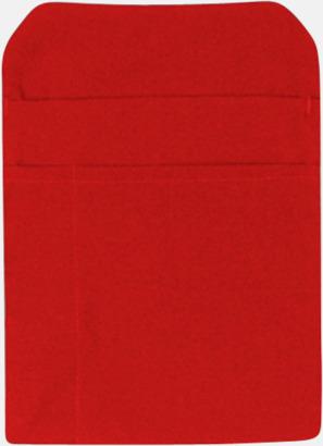 Röd Förklädesfodral med reklamtryck
