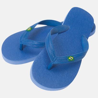 Blå Äkta Flip Flop från Brasilien med reklamtryck