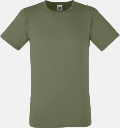 Classic Olive Tajtare reklamt-shirt med figurnära passform