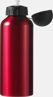 Mörkröd Vattenflaskor av stål med gravyr