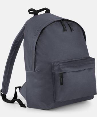 Graphite Grey Klassisk ryggsäck i 2 storlekar med eget tryck